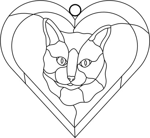 Sunny Brook Studio Stained Glass: Free Patterns - Cats