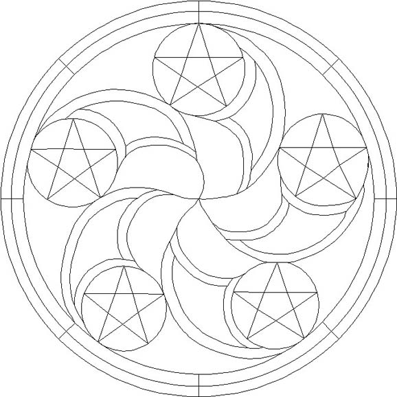 hex signs coloring pages - photo#2
